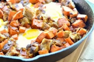 Chicken and Apple Sausage Sweet Potato Hash | Real Housemoms