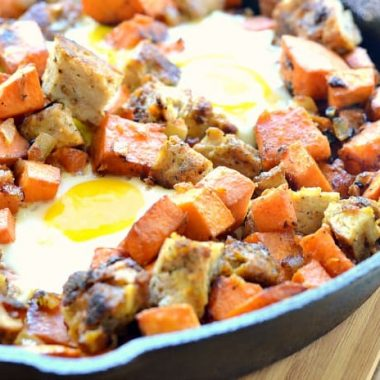 Chicken Apple Sausage & Sweet Potato Hash