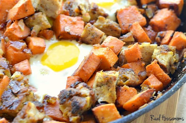 Chicken and Apple Sausage Sweet Potato Hash | Real Housemoms