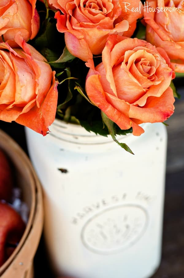 DIY Distressed Mason Jar Vase | Real Housemoms