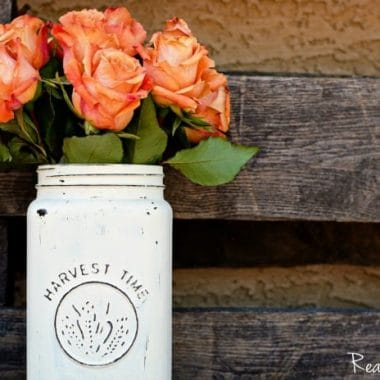 DIY Distressed Mason Jar Vase