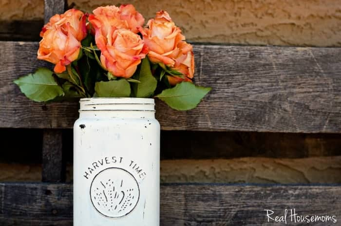 Diy Distressed Mason Jar Vase Real Housemoms