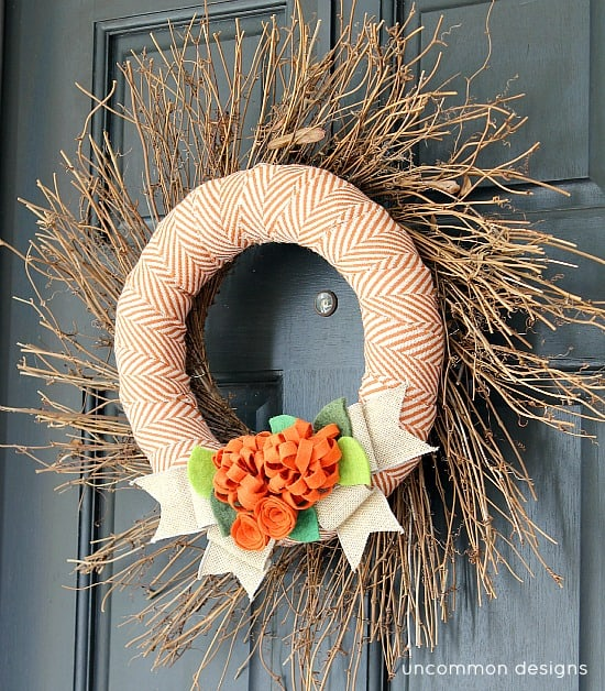 Fabric & Felt DIY Fall Wreath