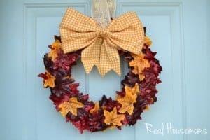 Fall Leaf Wreath Feature Image