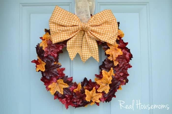 Fall Leaf Wreath | Real Housemoms