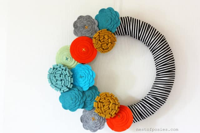 Fashion Foward Fel Flower Fall Wreath