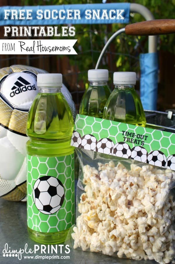 Free Soccer Snack Printables | Real Housemoms