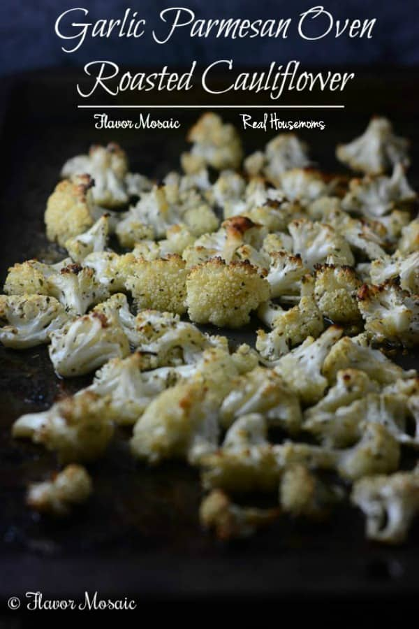 Garlic and Parmesan Roasted Cauliflower | Real Housemoms