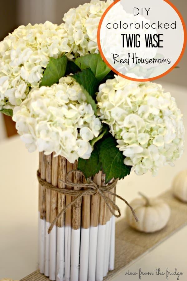 DIY Colorblocked Twig Vase ⋆ Real Housemoms on