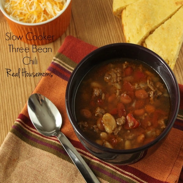 Slow Cooker Three Bean Chili | Real Housemoms