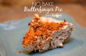 No Bake Butterfinger Pie - It's a Keeper