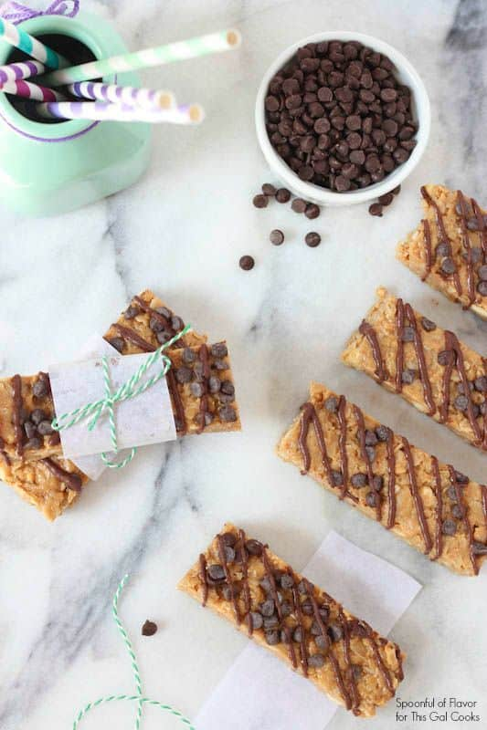 No-Bake Chocolate Peanut Butter Granola Bars
