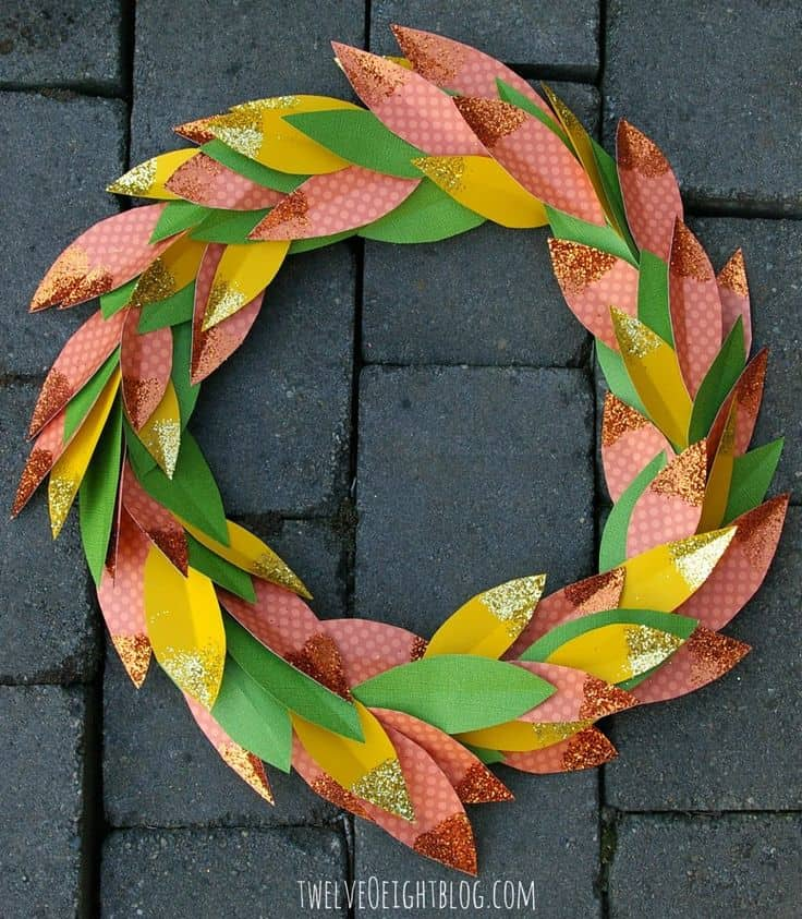 Paper + Glitter Fall Wreath