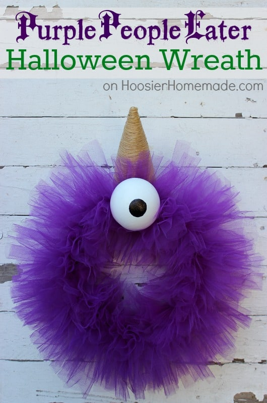 Purple People Eater Halloween Wreath