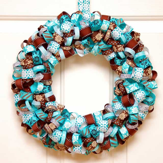 Ribbon Wreath How To