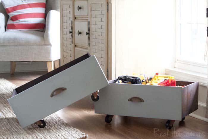 Rolling Toy Storage {from old drawers} | Real Housemoms