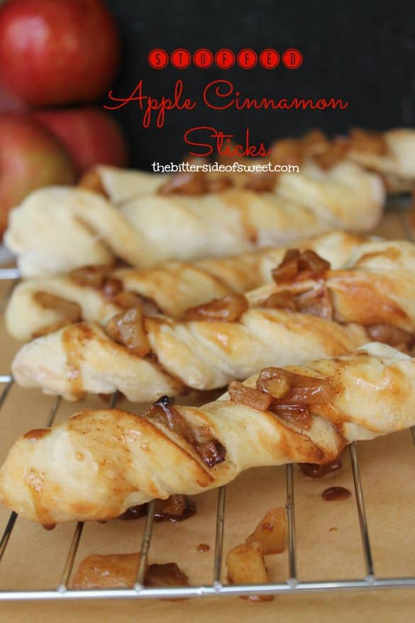 Stuffed Apple Cinnamon Sticks