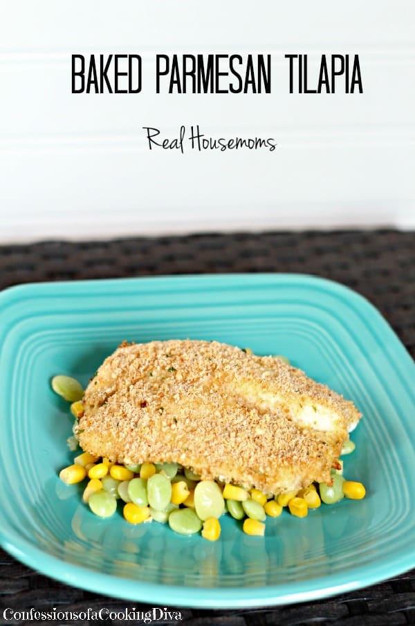 Baked Parmesan Tilapia | Real Housemoms