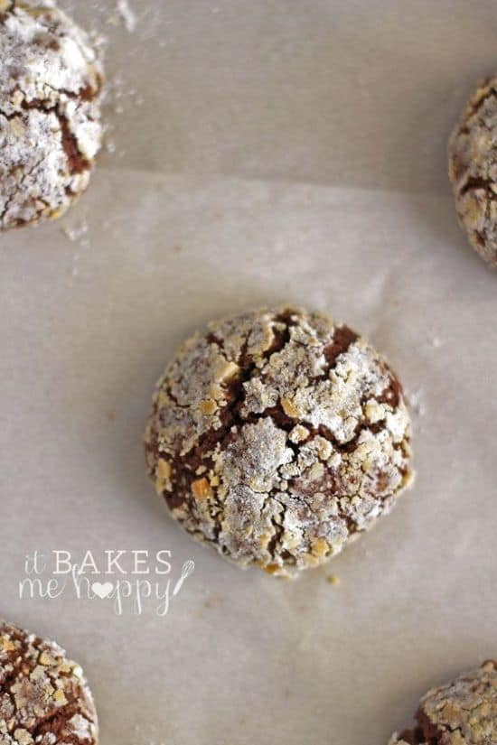 choclate pb crackle cookies