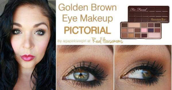 Gold brown eye makeup
