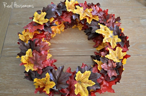 Fall Leaf Wreath | Real Housemoms