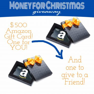 money for christmas Giveaway $500 Amazon Gift Card