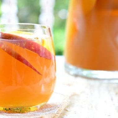 sparkling Apple Cider Sangria | Real Housemoms