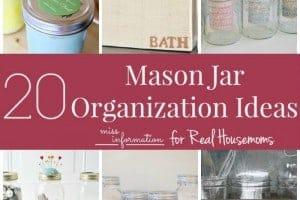 20 Mason Jar Organization Ideas SQUARE