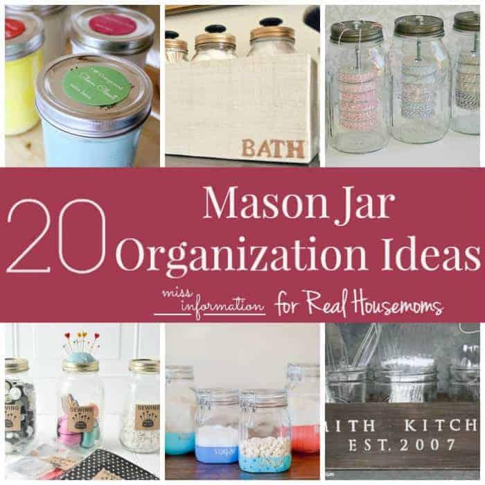 Organizing with mason jars real housemoms for Mason jar craft storage