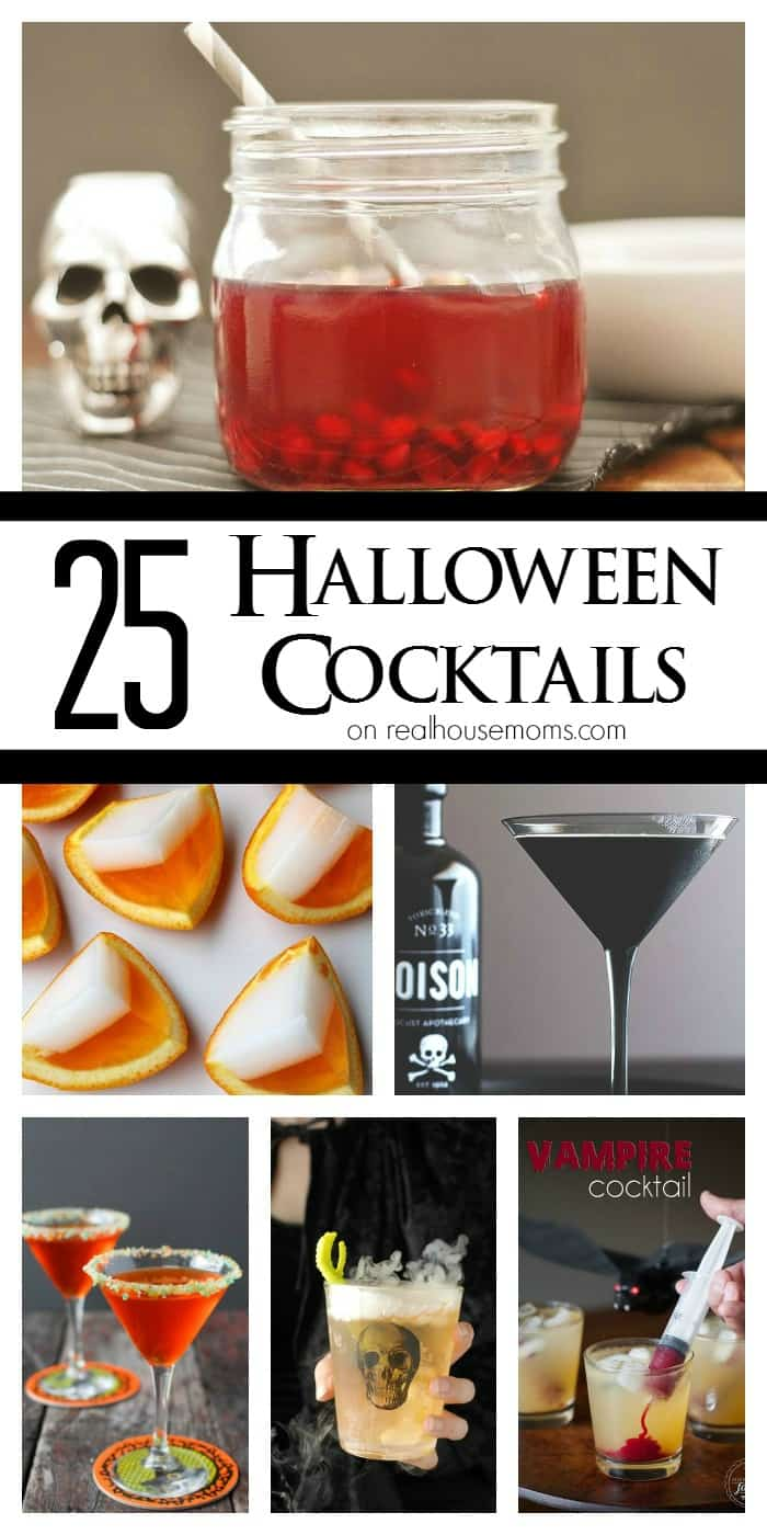 Get ready for some spooky good fun with these 25 Halloween Cocktails! Colorful and themed, these drinks will be the hit of your party!