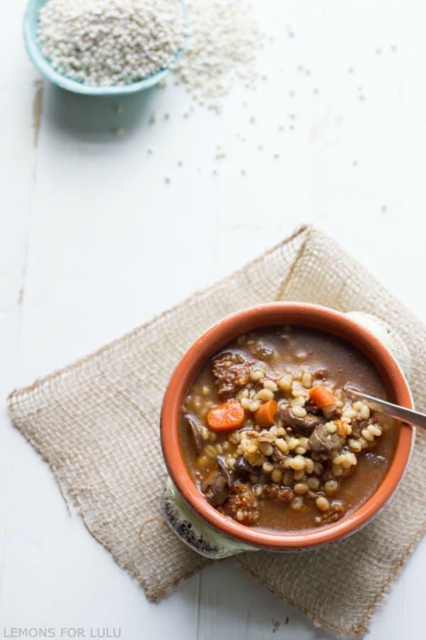 Barley Soup with Chorizo | Real Housemoms
