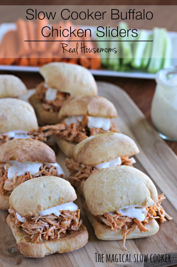 Slow Cooker Buffalo Chicken Sliders I Real Housemoms