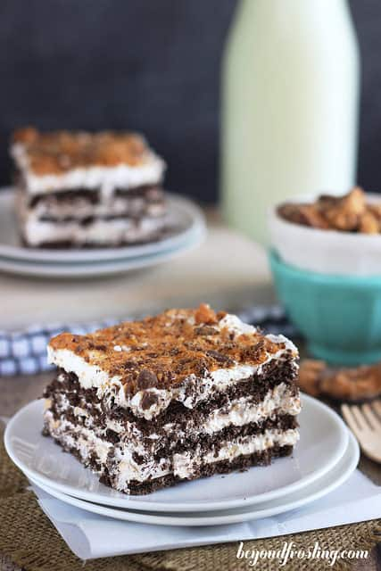 Butterfinger Icebox Cake