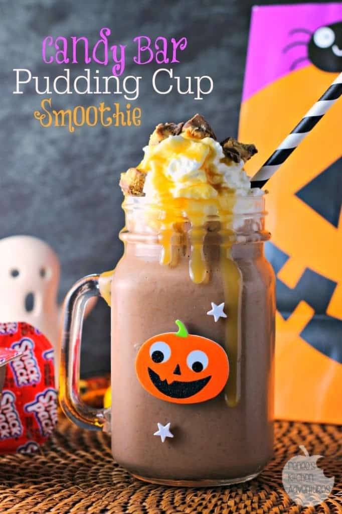 Candy Bar Pudding Cup Smoothie