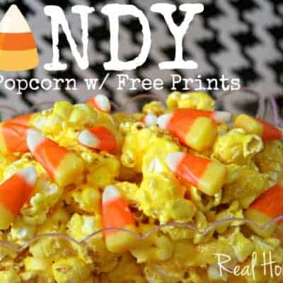 Candy Corn Popcorn with Free Printables