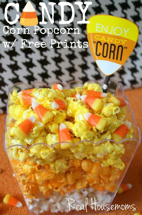 Candy Corn Popcorn with Free Printable | Real Housemoms