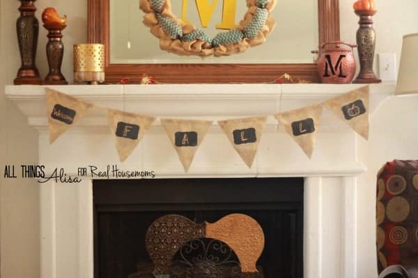 Fall Chalkboard Banner | Real Housemoms