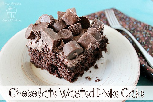 Chocolate Wasted Poke Cake