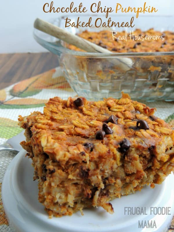Chocolate Chip Pumpkin Baked Oatmeal | Real Housemoms