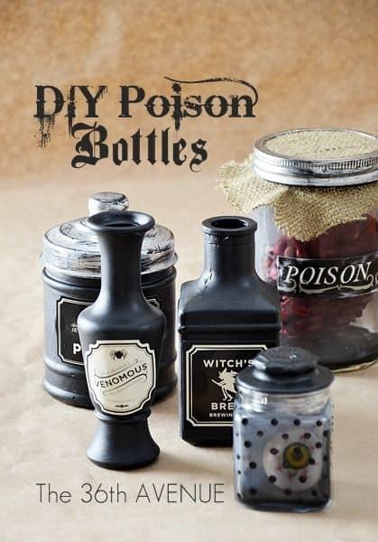 DIY Halloween Poison Bottles
