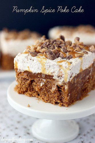Double Pumpkin Poke Cake