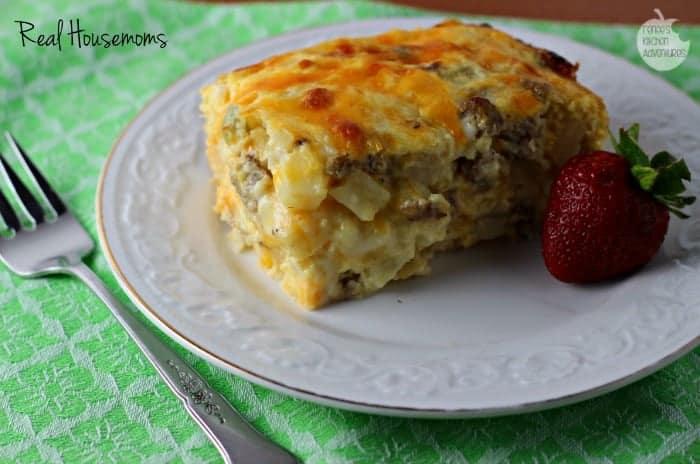 Easy Cheesy Southwest Breakfast Casserole | Real Housemoms