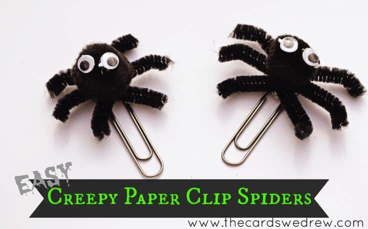 Easy Creepy Paper Clip Spiders