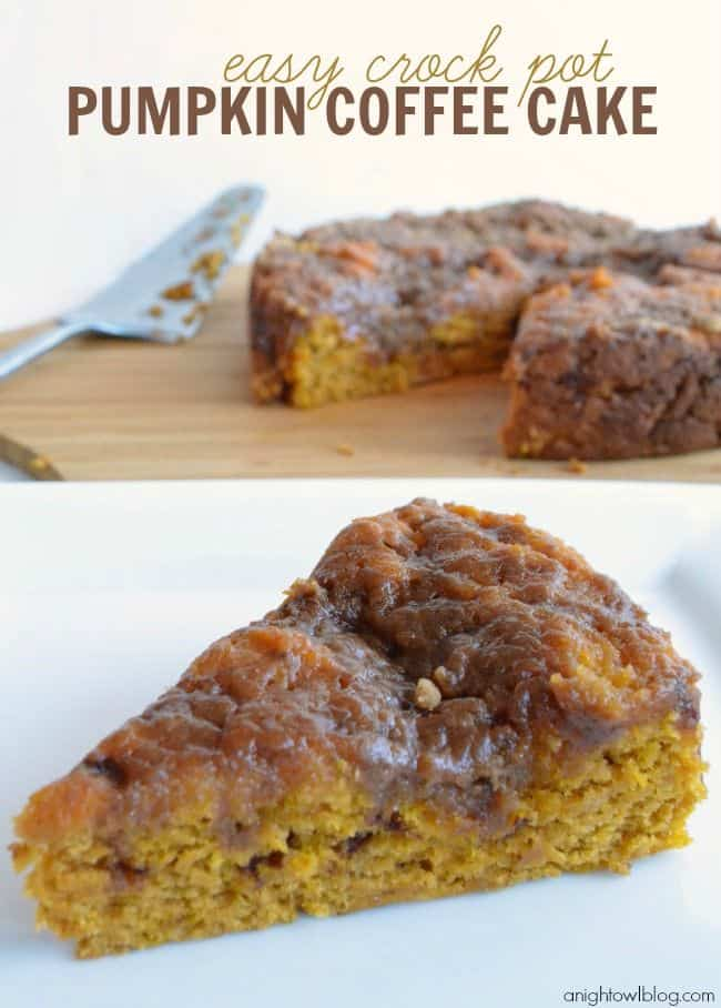 Easy Crock Pot Pumpkin Coffee Cake