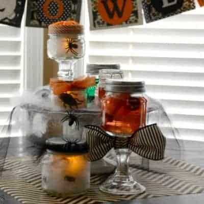 Halloween Specimen Jar Centerpiece