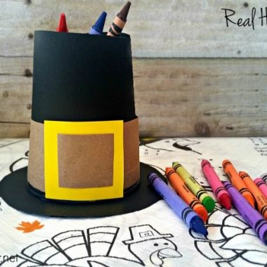 Hero Pilgrim Hat Crayon Holder