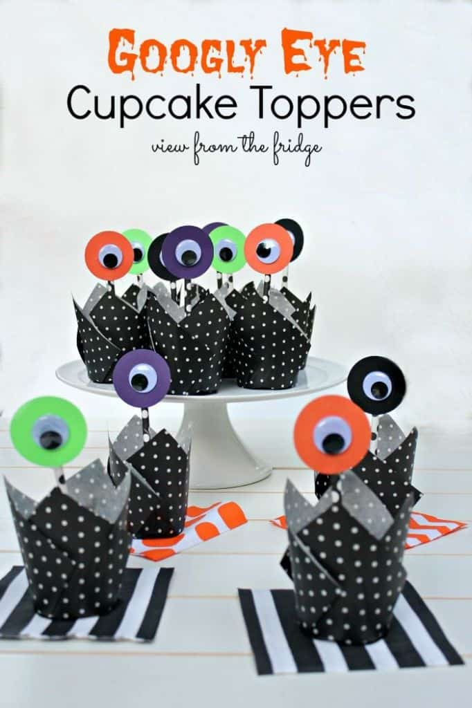 Googly Eye Cupcake Toppers
