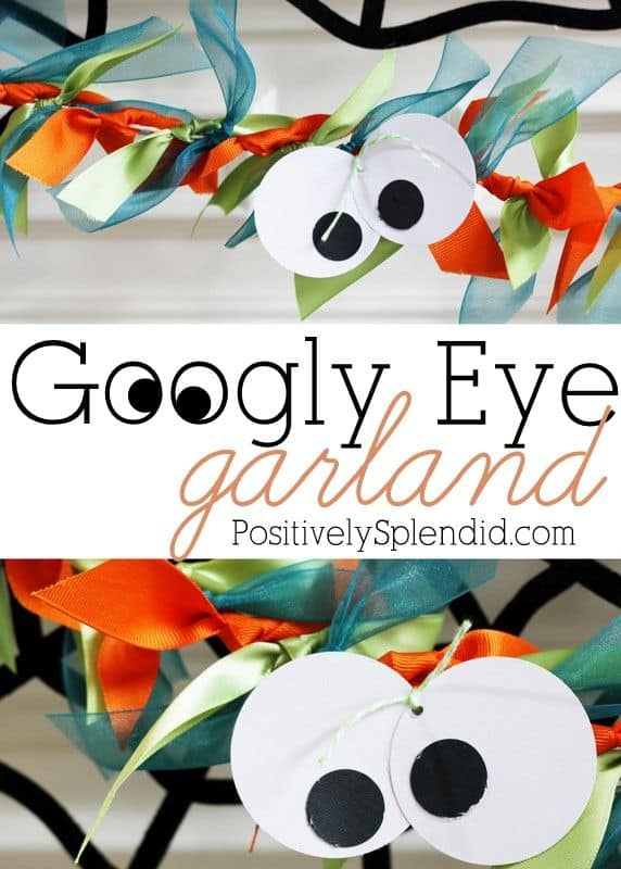 Halloween Googly Eye Ribbon Garland