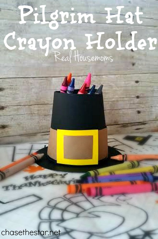 Pilgrim Hat Crayon Holder | Real Housemoms
