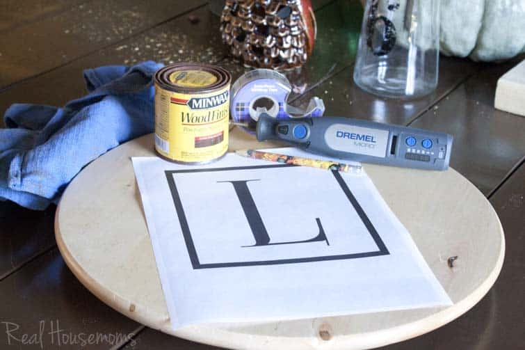 IKEA Hack Monogrammed Lazy Susan | Real Housemoms